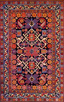 """Ein aserbaidschanischer Teppich aus der Schirwan-Gruppe. Bijo-Teppich"""", Mitte des 19. Jahrhunderts"""
