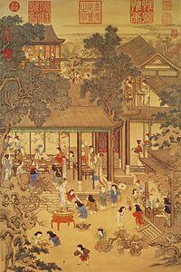 Obraz čínskeho nového roka v Číne v 18. storočí od Yao Wenhana