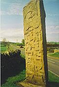 Пиктичный стоячий камень, Аберлемно, Шотландия.