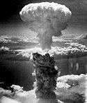 Een kernbom boven Nagasaki