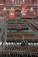 Viering van de Dag van de Overwinning in Moskou op 9 mei.