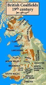 Britse kolenvelden in de negentiende eeuw.