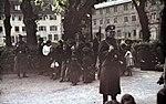 Roma op het punt gedeporteerd te worden in Duitsland, 22 mei 1940.