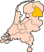 Map: Province of Drenthe in the Netherlands
