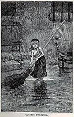 "Portret ""Cosette"" autorstwa Émile Bayarda, z oryginalnego wydania Les Misérables (1862)"