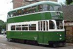 Een tram uit 1936 van Liverpool
