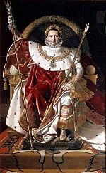 Наполеон на своем императорском троне, работы Жана Огюста Доминика Ингреса, 1806 г.