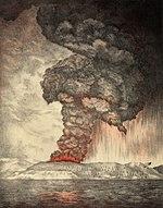 Krakatau explodierte am 27. August 1883.