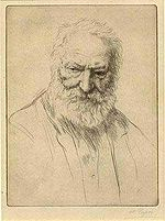 Victor Hugo, przez Alfonsa Legrosa.