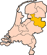 Map: Province of Overijssel in the Netherlands