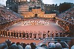 Militärische Tätowierung im Schloss von Edinburgh.