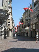 Fahnen zur Feier des Schweizer Nationalfeiertags am 1. August.