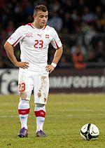 Shaqiri speelt voor Zwitserland in 2012