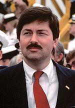 Branstad als gouverneur, 28 april 1984.