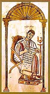 Una rappresentazione cristiana siriaca di San Giovanni Evangelista, dai Vangeli di Rabbula.