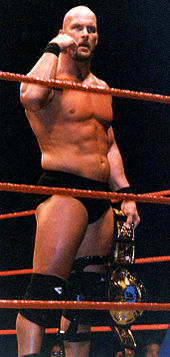 Austin während seiner Zeit als WWF-Champion