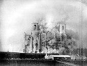 1931年に取り壊されたモスクワの救世主キリスト大聖堂。ソビエト連邦では、組織化された宗教は弾圧されていました。
