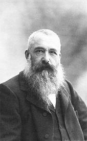 Claude Monet, oprichter van de impressionistische beweging...