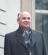 1985年のソ連の指導者ミハイル・ゴルバチョフ。