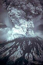 Mount Saint Helens uitgebarsten op 18 mei 1980.