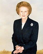 Portret van Lady Thatcher