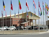 Terminal wojskowy NATO na międzynarodowym lotnisku w Kabulu
