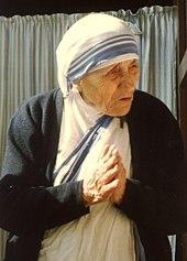 Moeder Teresa van Calcutta stond bekend om haar christelijke vriendelijkheid.