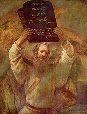 Moses mit den Zehn Geboten, von Rembrandt (1659)