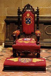 Председатель епископа Броутона, первого англиканского епископа Сиднея, Австралия.