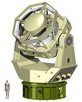 Een grote, moderne telescoop