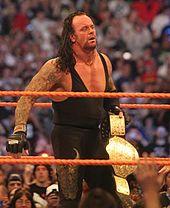 Bestattungsunternehmer, nachdem er bei WrestleMania XXIV Weltmeister im Schwergewicht wurde