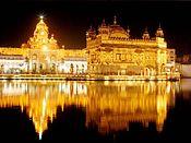 De Harmandir Sahib of de Gouden Tempel van de Sikhs.