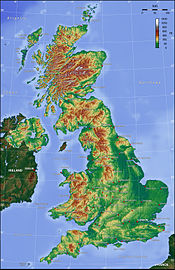 Топография Великобритании