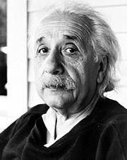 Einstein in zijn latere jaren, ca. 1950.