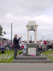 Gedenkfeier zum ANZAC-Tag in Australien am 25. April.