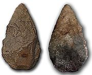 Twee kanten van een stenen handbijl: Spanje 350kya