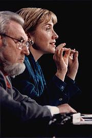 Koop met Hillary Clinton, november 1993
