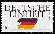 Postzegel ter gelegenheid van de Dag van de Duitse Eenheid op 3 oktober.