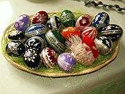 Eier, die Ostern feiern, das manchmal in den späten März fällt.