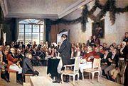 Schilderij met de overeenkomst van de Noorse grondwet op 17 mei 1814.