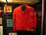 Rogers' beroemde rode trui in het Smithsonian in Washington, D.C.