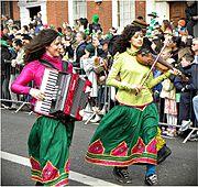Feierlichkeiten zum St. Patrick's Day am 17. März in Dublin.