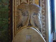 Standbeeld van de Romeinse God Janus.