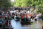 Königinnentag, 30. April, Feierlichkeiten in den Niederlanden. Im Jahr 2014 wurde er zum Königstag, dem 27. April, geändert.