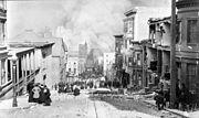Brände nach dem Erdbeben von San Francisco am 18. April 1906.
