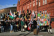 Feierlichkeiten zum St. David's Day in Cardiff Bay, Wales, am 1. März.