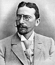 Dr. Tarrasch, die van Lasker verloor in de wereldtitelstrijd van 1908.