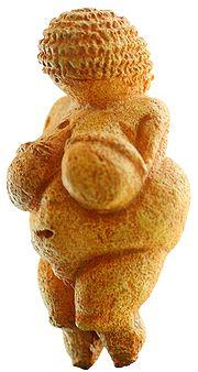 De Venus van Willendorf is een bekend beeldje. Het is ongeveer 25.000 jaar geleden gemaakt