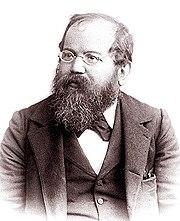 Wilhelm Steinitz, die Lasker versloeg in wereldkampioenschappen in 1894 en 1896