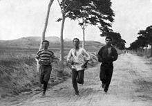 De eerste Olympische Marathon race van 1896.